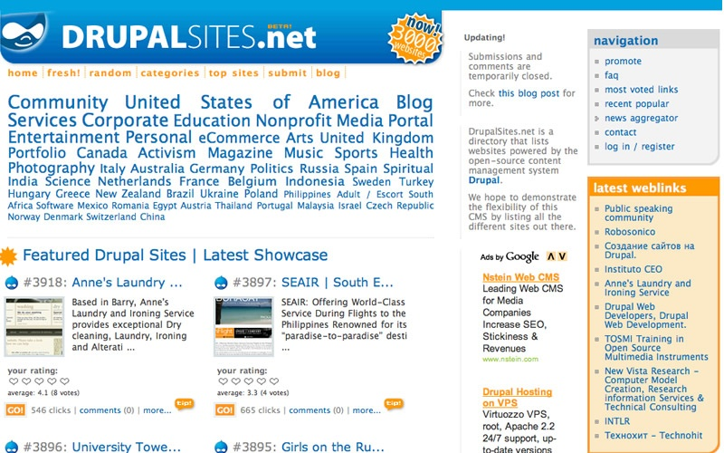 Best Drupal sites showcase 7 years online   best drupal
