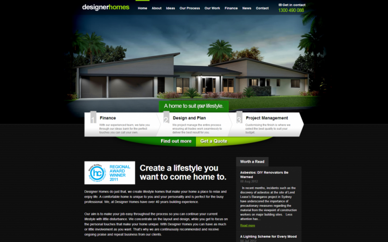 Designer Homes Best Drupal Websites Showcase