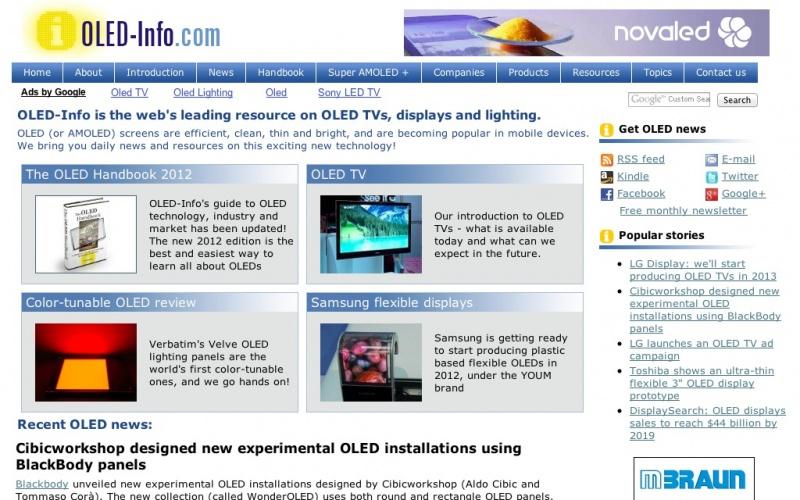 OLED-Info | best drupal websites showcase