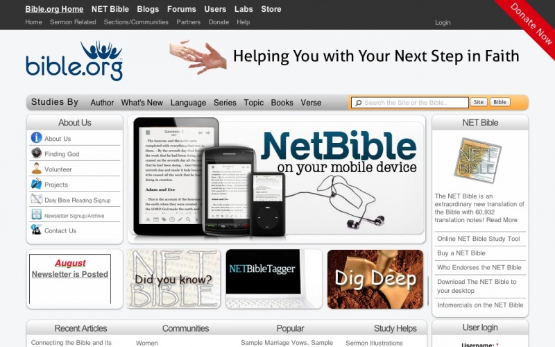 Worlds largest Bible Study Site and a Free NET Bible