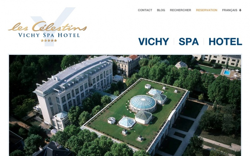 vichy spa hotel les c lestins best drupal websites showcase. Black Bedroom Furniture Sets. Home Design Ideas