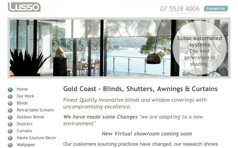 Lusso Gold Coast Blinds Shutters Awnings Curtains Best