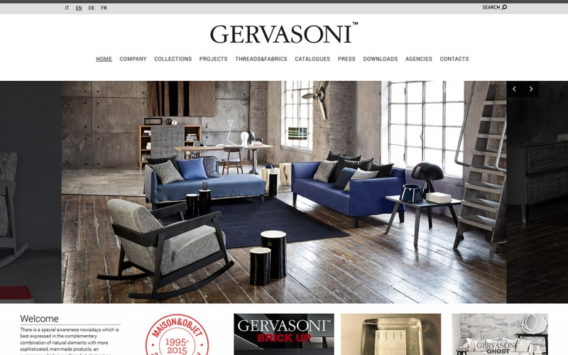 Gervasoni furniture industry since 1882 best drupal for Best furniture sites