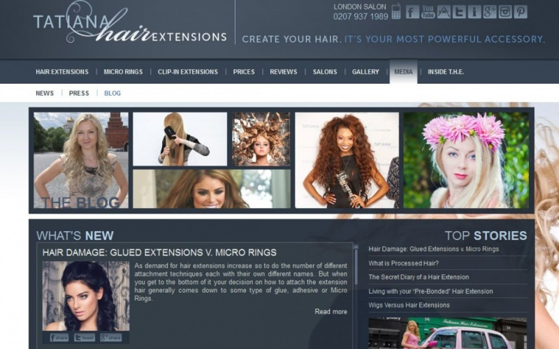 London Hair Extensions Drupal Website Best Drupal Websites Showcase