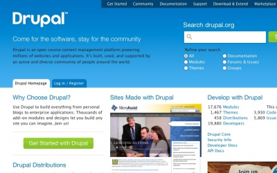 Drupal sites showcase screenshot