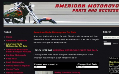 American Parts and Motorcycles | best drupal websites showcase